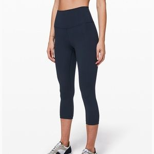 Lululemon Navy Yoga Capri Leggings